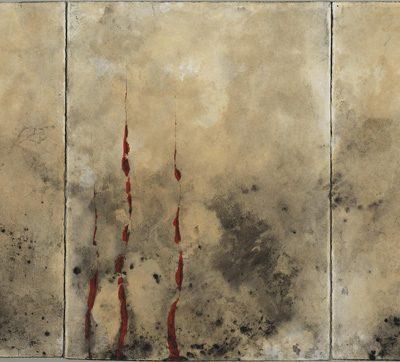 Algues, 2007. Tríptic. Acrílic sobre paper. 76x168 cm .-