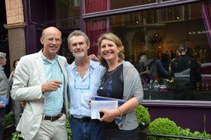 Andre Hoeck i Ien van Wierts a la inauguració a la 99 Mount Gallery. London. Juny 2013