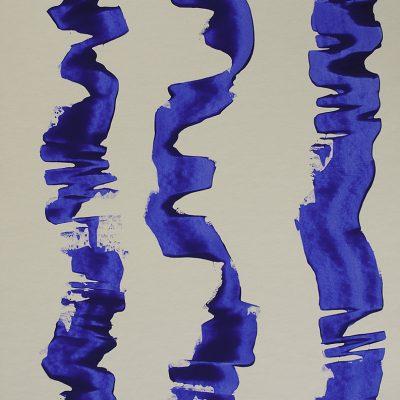 Traçats, 2012. Acrílic sobre cartró. 76x56 cm.