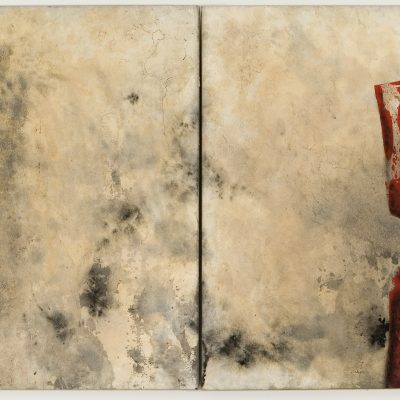 1  Bosc, 2006. Díptic. Acrílic sobre paper, maroruflé. 88x250 cm.