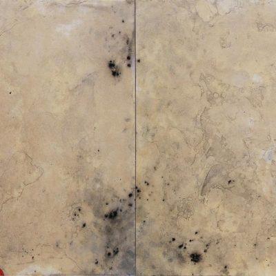 13 - Algues, 2011. Acrílico sobre papel. Acrylic on paper, marouflé. Diptych. 88x250 cm.