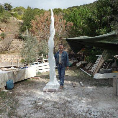16 - Infinita, 2011. Marbre blanc de Carrara. 320x60x50 cm  bis