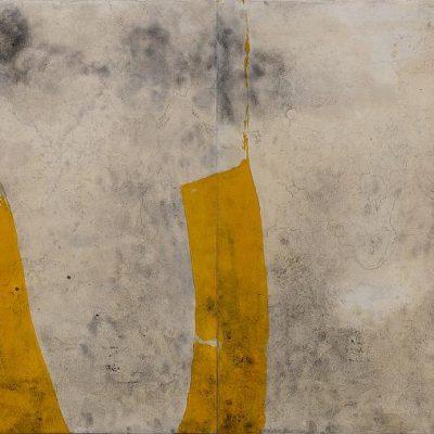 6 - Algas, 2010. Acrílico sobre papel, marouflé. Acrylic on paper glue on canvas (marouflé). Diptych 88x250 cm.