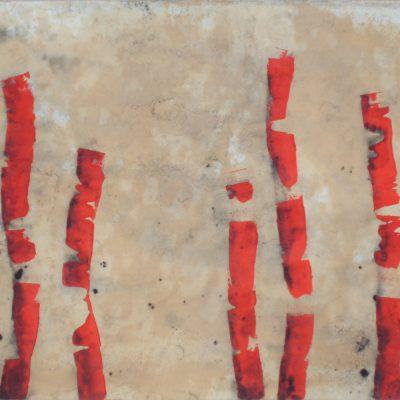 Algues, 2012. Acrílic sobre paper, marouflé. 100x150 cm.