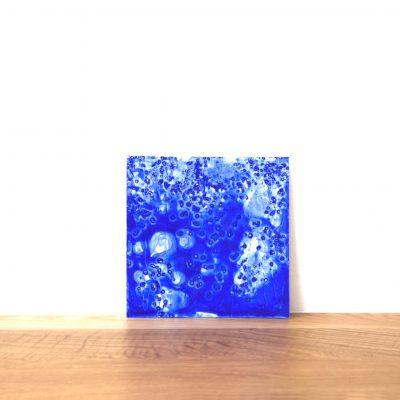 Water nebula, 2016. Acrilic i pigment. 24,5x24,5 cm.